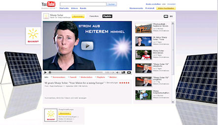 Sharp SolarChannel auf YouTube