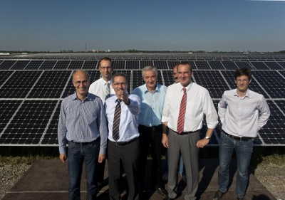 The Prime Minister of Brandenburg opened the 78 MW part of a 148 MW photovoltaic plant.